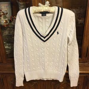 Ralph Lauren cable knit sweater EUC